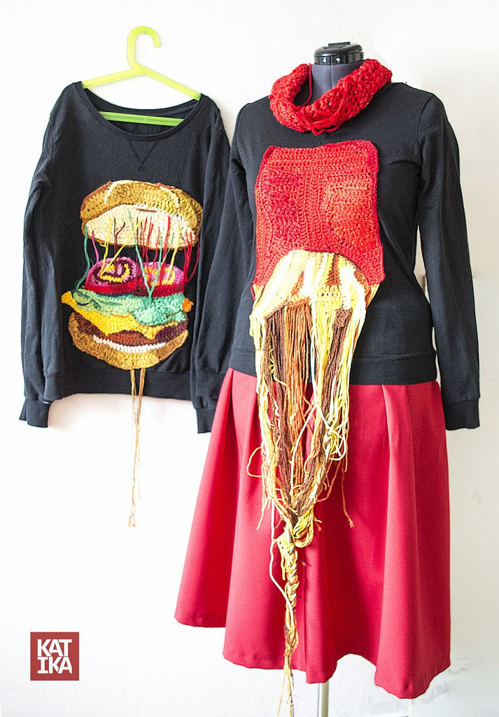 Food art, clothes collection